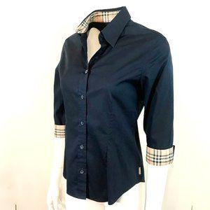 Auc Burberry Nova Check  3/4 Button Down shirt